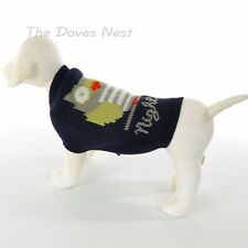 GRREAT CHOICE Unisex MEDIUM DOG SWEATER Night Owl DOG COAT Navy Green Gray White