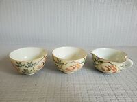 Asian Vintage  Antique Cups & Creamer Cup Lot of 3 ~ Cup 2'' T ~ Creamer 1.75''T