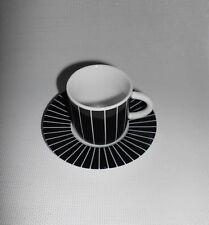 """ART WERK Ysenburg  1 Espressotasse mit Untertasse """" STREIFEN """""""