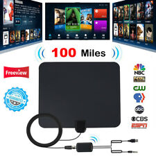 100 Miles Indoor Digital HD TV Antenna with Signal Amplifier Booster HDTV Fox 4K
