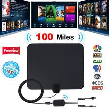 100 Miles Indoor Digital HD TV Antenna with Signal Amplifier Booster HDTV Fox 4K