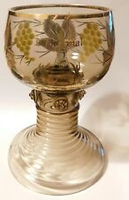 ANDENKENGLAS THERESIENTHAL Weinglas RÖMER um 1910 TROMPETENFUß Niederwald antik