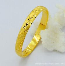 Wholesale 24K Gold Plated Babysbreath Women Men Bangle Cuff Bracelet GB004