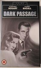 DARK PASSAGE Humphrey Bogart Lauren Bacall UK PAL Crime Classics VHS Tape