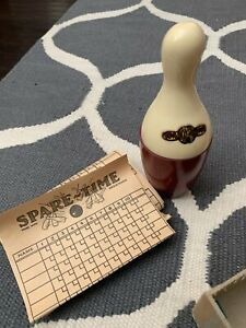 1940 Vintage Spare -Time Bowling Game Complete in Box Dice Pat Pend Bakelite