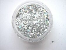 3g POT NSI  PRE-MIXED GLITTER ACRYLIC POWDER - SILVER-DIAMONDS   nail art mix