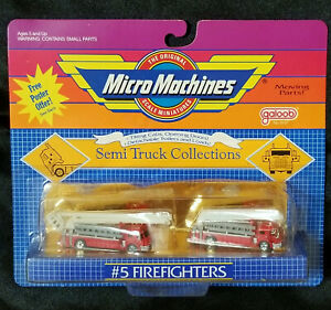 Vintage Micro Machines Semi Truck Collections #5 Firefighters NIB VG Condition