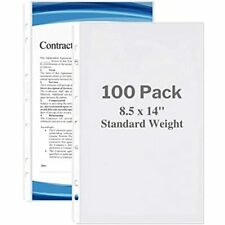Dunwell Legal Size Sheet Protector Standard Weight 100 Pack 85x14ampquot 7