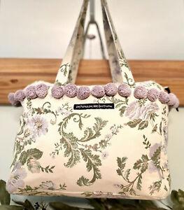 Petunia Pickle Bottom Diaper Bag Toddler Tote Bag Floral Print Purple Poms