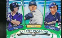 2018 Bowman Chrome Talent Pipeline Green Refractor Keston Hiura Ortiz Dubon RC