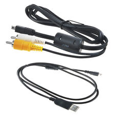 USB PC+A/V TV Cable For Olympus FE-370 FE-360 FE-350 FE-330 FE-320 FE-310 Camera