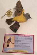 Danbury Mint Christmas Songbird Ornaments Western Kingbird Figure