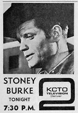 1965 KCTO DENVER,COLORADO TV AD~JACK LORD is STONEY BURKE TV WESTERN SERIES