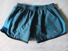 Nike Women's Dri-Fit Blue Lined Running Shorts Size S Drawstring Elastic