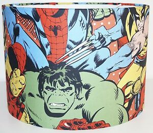 Marvel Avengers Superheroes Fabric Drum Lampshade (15/20/25/30cm)