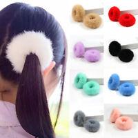 Girls Women Fluffy Faux Fur Hair Ring Rope Band Furry Scrunchie Elastic Fashion