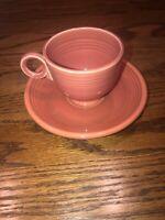 Vintage Fiesta RED Teacup Tea Cup + Saucer ~