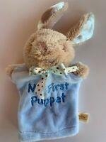"9"" Dan Dee Blue Bunny Rabbit My First Puppet Soft Plush Baby Toy Easter"