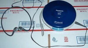 CLEAN  MINT!  2006 Panasonic SL-SX480  MP3 CD WALKMAN  w/ NIKE Headphones  WORKS