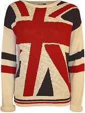 Geometrische Damen-Pullover aus Baumwollmischung