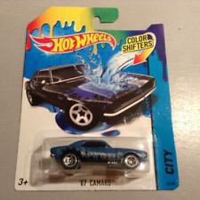 VERY RARE 2014 RELEASE HOT WHEELS CITY COLOR SHIFTERS 1967 CAMARO BLUE FREE SHP