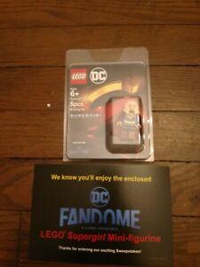 NEW LEGO Supergirl Minifigure DC Fandome Exclusive SDCC Comic Con