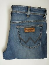 WRANGLER TEXAS STRETCH JEANS MEN'S STRAIGHT FIT W36 L32 MID BLUE LEVR905