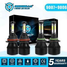 9007 Hi-Lo LED Headlight+9006 Fog Lights for 2002-2005 Dodge Ram 1500 2500 3500
