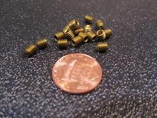 "Brass Set Screws, Cup Point, 8-32 x 3/16"" Length, 100 Pieces"