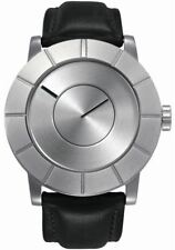 Issey Miyake TO Automatic Steel/Black Leather