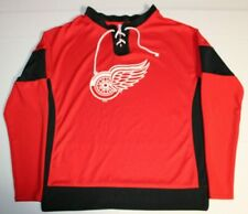 NHL Hockey Detroit Red Wings Jersey Long Sleeve Shirt Pullover Youth Medium 8-10