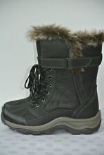 NEW Clarks Mazlyn West Waterproof Womens 8 M Black Leather Lace Winter Boots