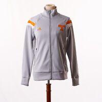 NWT Adidas Womens University of Tennessee Gray Warmup Anthem Jacket Medium Zip