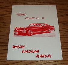 1969 Chevrolet Chevy II Nova Wiring Diagram Manual 69