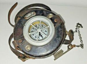 Vintage Detex Newman Watchman Clock w/ key