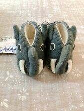 Handcrafted Villages Elephant Infant Shoes 0-12 M Silk Road Bazaar