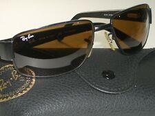 Ray-Ban RB3189 Leder II 58 16 B15 Braunes Glas Flex Metal Wrap Sonnenbrille Mint
