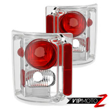 """Factory Chrome"" Tail Lights Lamps Brake Pair For 1973-1986 Chevy GMC C/K Pickup"