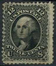 USA 1861 SG#65, 12c Black, Washington Used Cat £120 #E2420