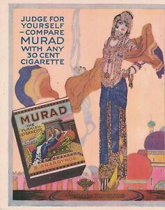 1919 Murad Original tobacco cigarette ad from Judge Magazine -  Scarce