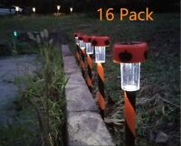16 Pack Halloween Light Pumpkin Stakes Patio Pathway Trick Or Treaters