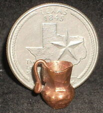 Hand Made Copper Pitcher, Small 1:12 Mexican Kitchen Doll Miniature #D-Cop-P