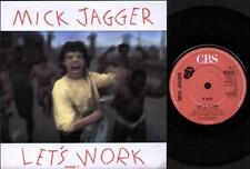 """MICK JAGGER Let'S Work  7"""" Ps, B/W Catch As Catch Can, 651028 7"""