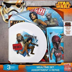 Star Wars Rebel Animated Series 3 Piece Meal Set - Plate, Bowl & Tumbler