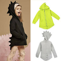 Kids Boys Girl Long Sleeve Dinosaur Hoodie Sweater Hooded Coat Casual Top Jacket