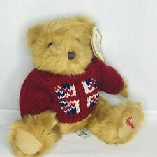 Harrods Knightsbridge Plush Teddy Bear British Union Jack Flag Red Sweater Tag