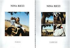 ▬► PUBLICITE ADVERTISING AD Nina RICCI 2 pages 1992