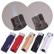 Honest 2 in1 Soft+Jet Flame Flint Wheel Butane Gas Cigarette Lighter Lightweight