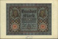 Deutsches Reich Rosenbg: 67b, 8stellige Kontrollnummer bankfrisch 1920 100 Mark