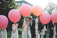 Pink Balloons 3 ft giant round large giant balloons wedding bride  latex
